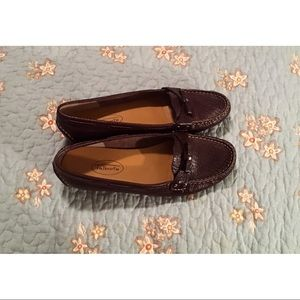 Talbots Tuscan Leather Slip On Moccasin